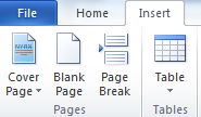 Inserting the Blank Page