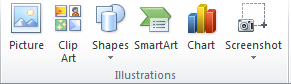 SmartArt under Illustrations on the Insert Tab